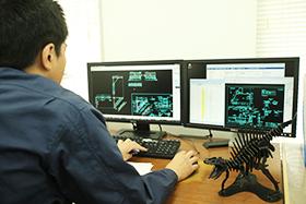 3D CADによる立体ひねりスロープのモデル